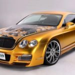gold-plated bentley